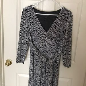 Evan Picone faux wrap dress